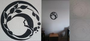 Elin Race Symbol Wall Drawing by oOCrazyKittyOo