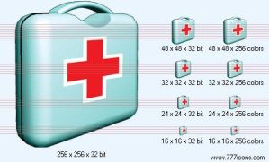Medical bag Icon by medical-icon-set
