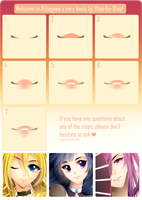 Anime Lips: Step-by-Step by lEdogawa