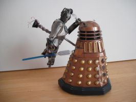 Custom Doomsday figure Dalek vs Cyberman 1 by Will1885