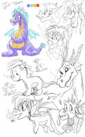 3 minute dragon concepts by Grethe--B