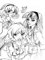 Magic Knight Rayearth Sketch by DemonCartoonist