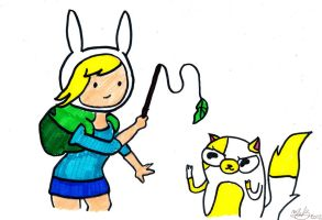 Fionna and Cake by MelanieBrown