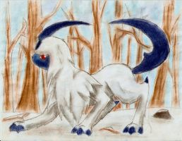 Winter Absol by LittleMads