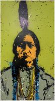 Sitting Bull by clayolsonart