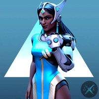 Symmetra Portrait by SFM-ShatteredKnives