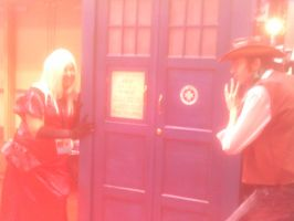 Isaac and Miria take the TARDIS by stardove3