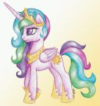 [AT] Princess Celestia pen drawing by Nokills-Clan196