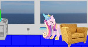 Princess Cadence wakes up on the cruise ship by OceanRailroader