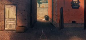 The Blind Griffin: Alleyway by Auro-Cyanide