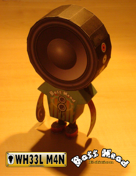 Wheelman - Bass Head Papertoy by Sinner-PWA