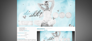 Graphic site theme (dontsayshh.blog.cz) #2 by dailysmiley