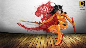 Tigress Orange Latex Wallpaper by dnhart13