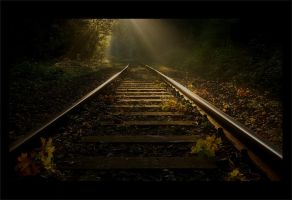 Tracks to the light 3 by wienwal