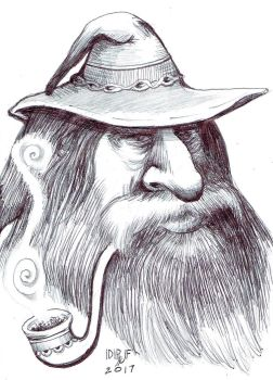 Gandalf the Grey ballpoint and pencil by DoctorFantastic