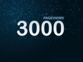 Thank you 3000 Pageviews by doredore