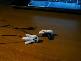 Justin Law Earphones by Skeletal-Clown