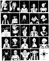 Square VS Capcom Roster by General-RADIX