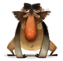 DAY 402. Probiscus Monkey by Cryptid-Creations