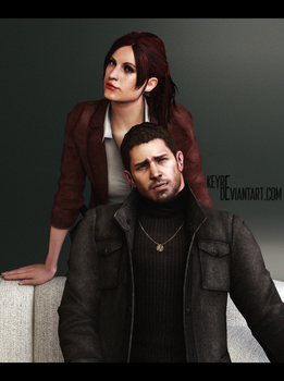 Claire and Chris Redfields by Keyre