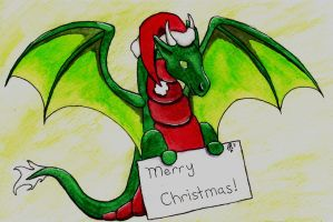 2011 X-mas Card by wulfdragyn