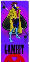 Gambit Playing Card by SIDNEYG