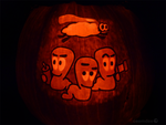 Worms Pumpkin by ceemdee