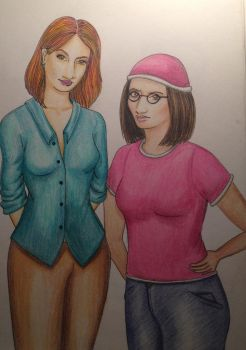 Lois and Meg by Kelizza