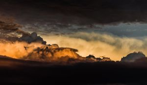 Sunset Through A Cotton Field by AshWind150