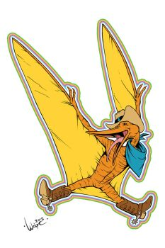 LGBT Dinosaurs: Pterry the Pterodactyl by WolfeHanson