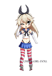 Shimakaze Chibi by China-Girl-Doll