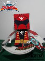 Gokai Red Papercraft by jazzmellon