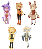Pokemon Gijinka Adopts II by Dark--Remorse