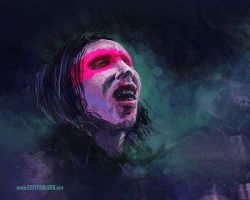 Marilyn Manson sketch VIDEO by egilpaulsen