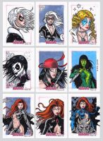 Women of Marvel Sketch Cards J by tonyperna