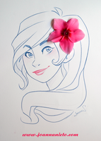 Paper girl with flower by kalmita