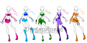 My 5 OC's Magic Winx by DragonAnalei