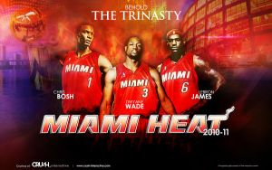 Miami Heat - The Trinasty by snapper1200