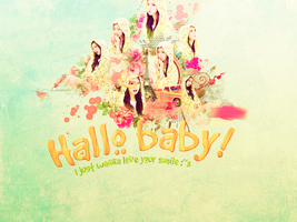 Hallo Baby Qri [Wallpaper for meimei] by Shawolki