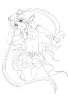 Sailor Moon - lineart by alexielart