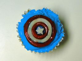 Captain America Cupcake by aniapaluch