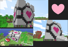 Companion Cube Minecraft by slygirl1999
