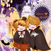 Halloween Rin and Len by AliceDol