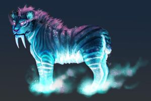 Space Smilodon by SpaceSmilodon