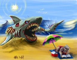 Megalodon of the Dead by chrismoet