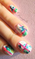 Random, colorful nails by Danijella