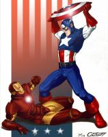 cap vs iron by jam-bad