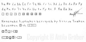 Alien Alphabet by Attila-G