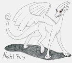 Night Fury (prime form) Official ref pic by NightFury128