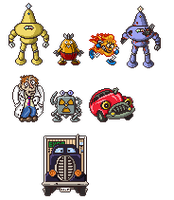 Mother SNES - Factory Enemies by Bongwater-bandit